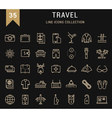 Travel Line Icons 9 vector image