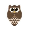 Brown owl vector image