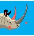 Portrait enamored rhino vector image