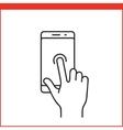 Smartphone gesture icon vector image