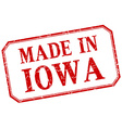Iowa - made in red vintage isolated label vector image