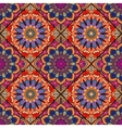 Boho tile flower squares colorful red vector image