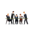 business meeting and teamwork colleagues vector image