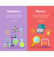 Chemistry and Physics Science Banners vector image