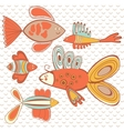 exotic abstract fish pattern vector image