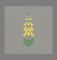 flat shading style icon plant euphorbia vector image