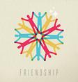 Friendship concept diversity people color design vector image