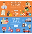 Insurance Services Banners vector image