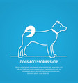 outline dog silhouette on white background vector image