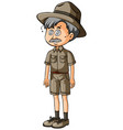 parkranger with dizzy eyes vector image