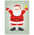 santa claus on isolated background christmas vector image