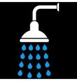 Shower Flat Symbol vector image