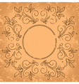 square old card - vintage background vector image