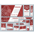 Set of web banners with technical drawings vector image