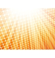 Red yellow rays light 3D mosaic EPS 8 vector image