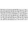 set of 100 hand lettering inscriptions about vector image vector image