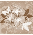 Old paper with cherry blossom vector image vector image