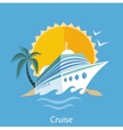 Cruise Ship Water Tourism vector image