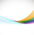 Abstract colorful background with smooth wave vector image
