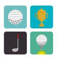 golf sport set icons emblem vector image