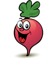 Happy radish character vector image