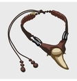 Necklace of tusk tooth vector image