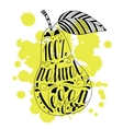 Pear with the phrase natural vegan vector image