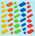 plastic blocks set vector image