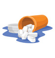 tablets and bottle vector image