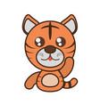 tiger baby animal kawaii design vector image