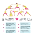 Template of Banner for advertising pregnant yoga vector image