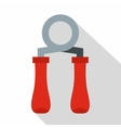 Hand grip exerciser icon flat style vector image