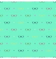 Glasses pattern vector image