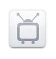 white tv icon Eps10 Easy to edit vector image