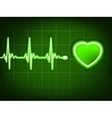 Green heart beat Ekg graph EPS 8 vector image