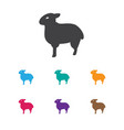 Of animal symbol on sheep icon vector image