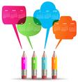 2017 Colorful creative talking pencils calendar vector image