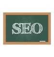 SEO text on chalkboard vector image