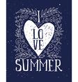 I love summer print T-shirt Ink vector image