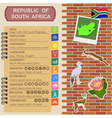 South Africa infographics statistical data sights vector image