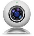 white webcam vector image vector image