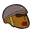 comic cartoon policeman head vector image