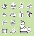 spa icon vector image