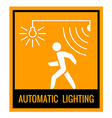 Automatic lighting concept attention sign table vector image vector image