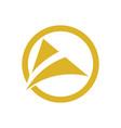 circle triangle swirl company logo vector image