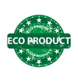 Eco product grunge rubber stamp vector image