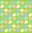 happy easter eggs pattern vector image