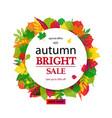 hello autumn sale vector image