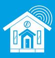house icon white vector image