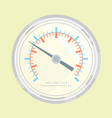 Manometer flat style vector image